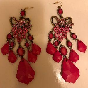 Pink Bebe Earrings